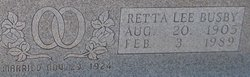 Retta Lee <I>Busby</I> Baccus