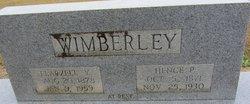 "Flarzell ""Flossie"" <I>Yates</I> Wimberley"