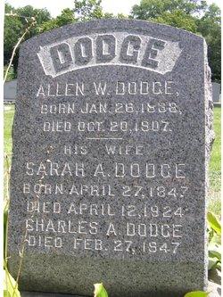 Sarah Anne <I>Poole</I> Dodge