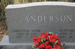Christine <I>Webb</I> Anderson