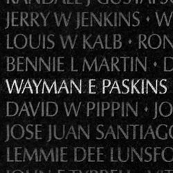 Spec Wayman E. Paskins