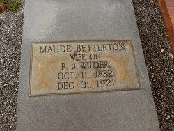 Maude <I>Betterton</I> Wilder