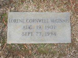 Lorene <I>Cornwell</I> McGinnis