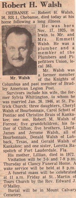 Robert H Walsh