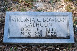 Virginia Caroline <I>Bowman</I> Calhoun