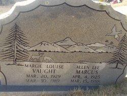 Margie Louise <I>Vaughn</I> Marcus
