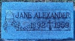 Jane Barbara <I>Carr</I> Alexander