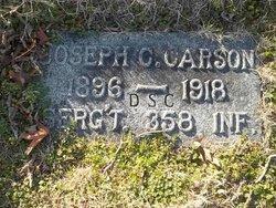 """Sgt Joseph Clarence """"Joe"""" Carson"""