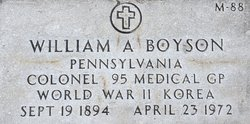 COL William Andrew Boyson
