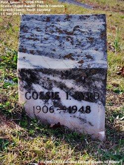 Gossie <I>Irvin</I> Byrd