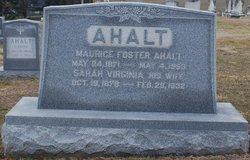"""Sarah Virginia """"Jennie"""" <I>Shank</I> Ahalt"""