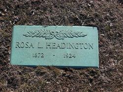"""Rosetta """"Rosa"""" <I>Lyon</I> Headington"""