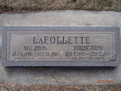 Warren Jasper LaFollette, Sr