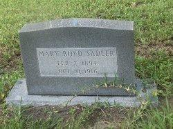 Mary Ann <I>Croft Boyd</I> Sadler