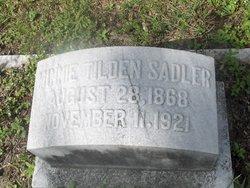 "Myra Minerva ""Minnie"" <I>Tilden</I> Sadler"
