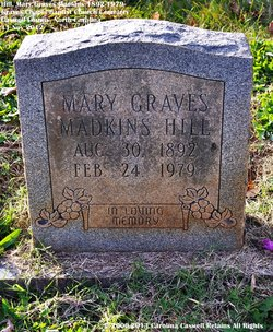 Mary Elizabeth <I>Graves</I> Hill