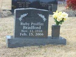 Ruby Beals <I>Proffitt</I> Bradford