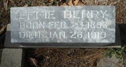 """Mrs Maude Evelyn """"Effie"""" <I>White</I> Berry"""