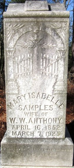 Mary Isabelle <I>Samples</I> Anthony