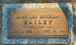 Mary Lou <I>Bruckman</I> Bailey