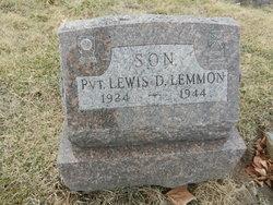 PVT Lewis D Lemmon