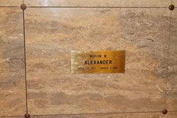 Marion W Alexander