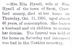 "Ellen Isobel ""Ella"" <I>Powers</I> Hysell"