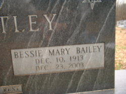 Bessie Mary <I>Bailey</I> Brantley