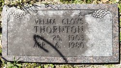 Velma <I>Cloys</I> Thornton