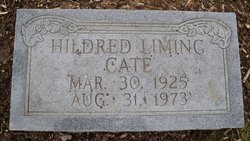 Hildred <I>Liming</I> Cate