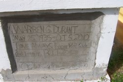 Warren G Durant