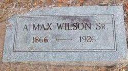 """Augustus Maxwell """"A Max"""" Wilson, Sr"""