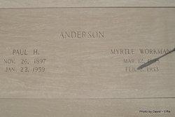Myrtle <I>Workman</I> Anderson