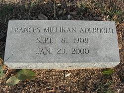 Frances <I>Millikan</I> Aderhold
