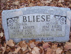 Oakley Adolph Bliese