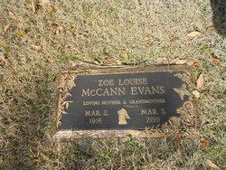 Zoe Louise <I>McCann</I> Evans