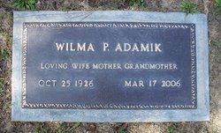 Wilma P Adamik
