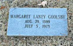 Margaret <I>Laney</I> Goolsby