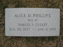Alice D. <I>Phillips</I> Culley