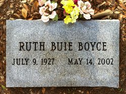 Ruth <I>Buie</I> Boyce