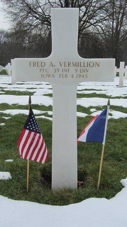 PFC Fred A Vermillion