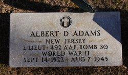 2LT Albert D Adams