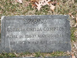 Georgia <I>Oneida</I> Compton