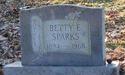 Elizabeth Betty <I>Hudson</I> Sparks