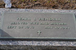 Pearl L. <I>Clark</I> Hendrix