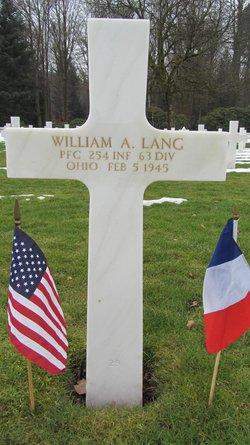 PFC William A Lang
