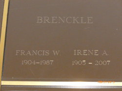 Irene A <I>Mayer</I> Brenckle