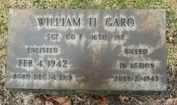 Sgt William H Garo