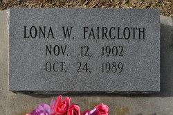 Lona <I>Woodard</I> Faircloth