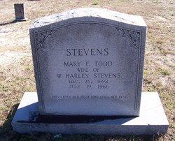 Mary F <I>Todd</I> Stevens